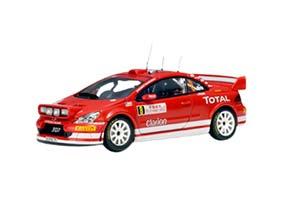 PEUGEOT 307 WRC №8 RALLY MONTE-CARLO MARCUS GRONHOLM TIMO RAUTIAINEN 2005 RED *ПЕЖО ПИЖО ПЫЖ