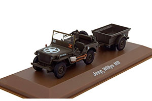 JEEP WILLYS WITH TRAILER 101ST AIRBORNE DIVISION NORMANDIE FRANCE 1944 *ДЖИП