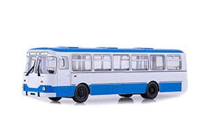 LIAZ 677M URBAN BUS (USSR RUSSIAN BUS) 1967-1994 WHITE/BLUE   ЛИАЗ 677М ГОРОДСКОЙ БЕЛЫЙ/ГОЛУБОЙ