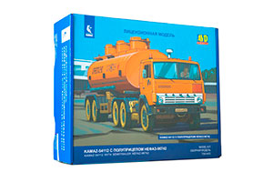 MODEL KIT KAMAZ-54112 WITH NEFAZ-96742 SEMI-TRAILER (USSR RUSSIAN CAR) | СБОРНАЯ МОДЕЛЬ КАМАЗ-54112 С ПОЛУПРИЦЕПОМ НЕФАЗ-96742
