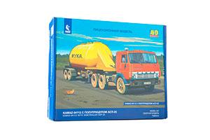 MODEL KIT KAMAZ-54112 COMBINED MODEL WITH ASP-25 SEMI-TRAILER (USSR RUSSIAN CAR) | СБОРНАЯ МОДЕЛЬ КАМАЗ-54112 С ПОЛУПРИЦЕПОМ АСП-25