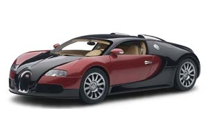 Bugatti EB 16.4 Veyron Production Car #001 2009 Black/Red Metallic Limited Edition 1200 Pcs.