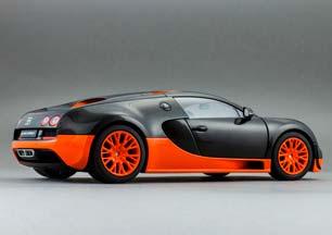 bugatti veyron super sport 16 4 2010 carbon orange modellisimo com scale models 1 18 1 43. Black Bedroom Furniture Sets. Home Design Ideas