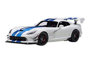 DODGE VIPER GTS-R COMMEMORATIVE EDITION ACR 2017 WHITE WITH BLUE STRIPES