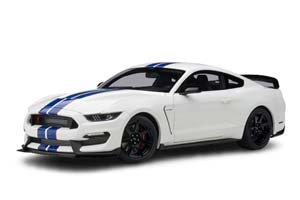 FORD SHELBY MUSTANG GT350R 2017 WHITE BLUE STRIPES