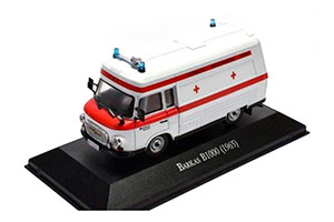 BARKAS B1000 SMH-3 AMBULANCE (EMERGENCY HELP) 1970 WHITE / RED