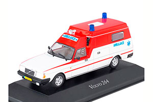 VOLVO 264GL DUTCH AMBULANCE (EMERGENCY MEDICAL ASSISTANCE) 1974 WHITE / RED