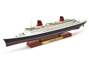 SHIP FRENCH OCEAN LINER SS FRANCE 1960 (MODEL 27 CM) | ФРАНЦУЗСКИЙ ОКЕАНСКИЙ ЛАЙНЕР SS