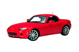 MAZDA MX-5 ROADSTER WITH FUNCTIONAL ROOF RED