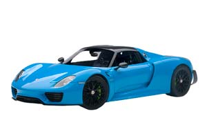 Porsche 918 Spyder Weissach Package 2013 Rivierablue/Blue