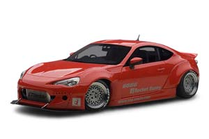 TOYOTA 86 ROCKET BUNNY 2012 RED/SILVER WHEELS