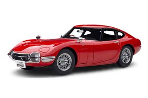 TOYOTA 2000 GT RED SPOKED WHEELS