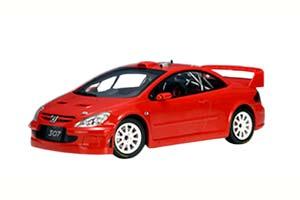 PEUGEOT 307 WRC 2005 PLAIN BODY VERSION RED