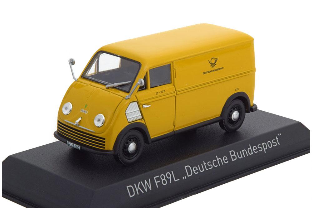 DKW F89L VAN DEUTSCHE BUNDESPOST 1952 YELLOW *ДКВ