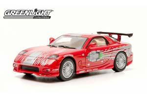 MAZDA RX 7 1993 RED FAST & FURIOUS (FROM THE MOVIE FAST AND FURIOUS)