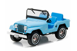 JEEP CJ-5 4x4 ELVIS PRESLEY 1954 SIERRA BLUE (GREEN WHEELS) *ДЖИП