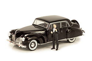 LINCOLN CONTINENTAL WITH CORLEONE FIGURE 1941 FROM GODFATHER