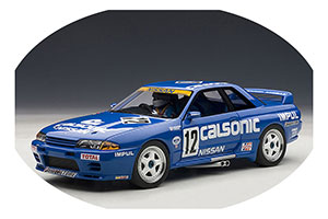 NISSAN SKYLINE GT-R R32 1990 HOSHINO #12 GROUP A WITH FIGURINE AND SHOWCASE LIMITED EDITION 1000 PCS.
