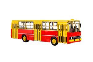 IKARUS 260 (USSR RUSSIAN BUS) 1985 YELLOW/RED | ИКАРУС-260 (ЖЁЛТО-КРАСНЫЙ) *ЭКАРУС ИКАРУС