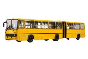 IKARUS 280 MOSCOW (USSR RUSSIAN BUS) 1980 YELLOW | ИКАРУС 280 ГАРМОШКА МОСКВА ЖЕЛТЫЙ *ЭКАРУС ИКАРУС
