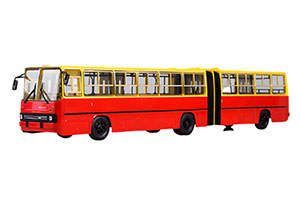IKARUS 280 (USSR RUSSIAN BUS) 1980 RED/YELLOW | ИКАРУС 280 ГАРМОШКА
