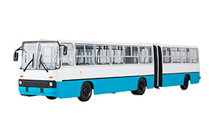 IKARUS 280 (USSR RUSSIAN BUS) 1980 WHITE/BLUE | IKARUS-280 ГАРМОШКА (БЕЛО-СИНИЙ) *ЭКАРУС ИКАРУС