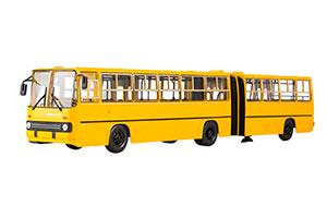 IKARUS 280.64 PLANETARY DOORS (USSR RUSSIAN BUS) 1980 YELLOW | IKARUS-280.64 ГАРМОШКА ПЛАНЕТАРНЫЕ ДВЕРИ (ЖЁЛТЫЙ)