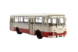 LIAZ 677M CITY BUS (USSR RUSSIAN) 1967-1994 WHITE/RED | ЛИАЗ-677М БЕЛО-КРАСНЫЙ *ЛИАЗ ЛИКИНСКИЙ АВТОЗАВОД