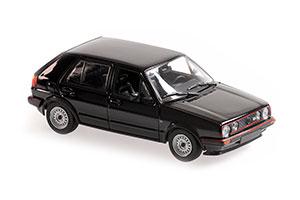 VW VOLKSWAGEN GOLF GTI 4-DOOR 1986 BLACK