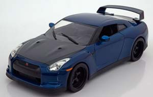 Nissan GT-R (R35) From The Movie Fast & Furious 7 2009 Blue Metallic Brian