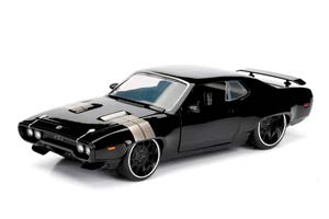 PLYMOUTH GTX DOM'S FAST AND FURIOUS 8 2017 BLACK *ПЛИМУТ