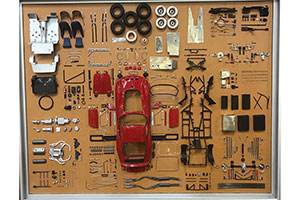 SHOWCASE MODEL ART FERRARI 250 GTO PARTS DISPLAY BOARD 2018 LIMITED EDITION 200 PCS. *ВИТРИНА БОКС