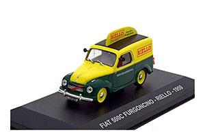 Fiat 500C FURGONCINO-RIELLO 1959 Yellow/Green