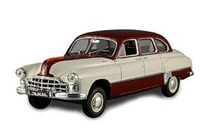 GAZ 12 ZIM (USSR RUSSIAN) 1960 RED/WHITE #206 | ЗИМ ГАЗ 12 АВТОЛЕГЕНДЫ СССР #206 *ГАЗ ГОРЬКОВСКИЙ АВТОЗАВОД ГОРЬКИЙ