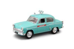 MOSKVICH 407 (USSR RUSSIAN CAR) BLUE   МОСКВИЧ 407 АВТОЛЕГЕНДЫ СССР СПЕЦВЫПУСК МИЛИЦИЯ #3