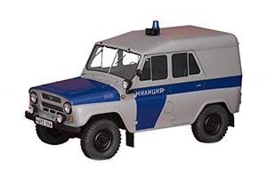 UAZ 469 POLICE (USSR RUSSIAN CAR) 1972 WHITE/BLUE   УАЗ 469 АВТОЛЕГЕНДЫ СССР СПЕЦВЫПУСК МИЛИЦИЯ #4