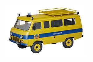 UAZ 452B POLICE (USSR RUSSIAN) 1966 YELLOW | УАЗ 452Б АВТОЛЕГЕНДЫ СССР СПЕЦВЫПУСК МИЛИЦИЯ #6