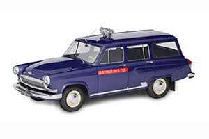 GAZ M22 VOLGA POLICE (USSR RUSSIAN) 1962 BLUE | ГАЗ М22 ВОЛГА МИЛИЦИЯ АВТОЛЕГЕНДЫ СССР СПЕЦВЫПУСК МИЛИЦИЯ #8