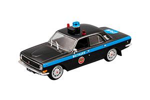 GAZ 24-10 VOLGA POLICE (USSR RUSSIA) BLACK | ГАЗ 24-10 МИЛИЦИЯ СССР #9 *ГАЗ ГОРЬКОВСКИЙ АВТОЗАВОД ГОРЬКИЙ