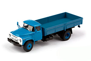 ZIL 130G LONG BASE (USSR RUSSIA) 1963 BLUE | ЗИЛ 130Г ДЛИННОБАЗНЫЙ АВТОЛЕГЕНДЫ СССР. ГРУЗОВИКИ #52 *ЗИЛ ЗАВОД ИМЕНИ ЛИХАЧЕВА