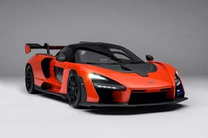 MCLAREN SENNA WITH LIGHTING AND ELECTRIC DOORS 2019 ORANGE *МАКЛАРЕН МСКЛАРЕН