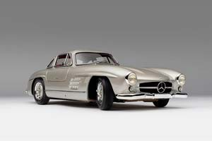 MERCEDES BENZ 300SL GULLWING 1954 SILVER *BENZ BENC МЕРСЕДЕС БЕНС МЕРСИДЕС МЕРСЕДЕЗ БЕНЦ