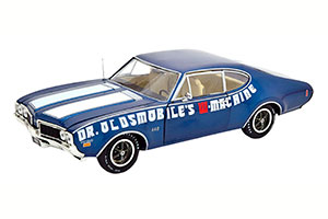OLDSMOBILE 442 W-30 DR OLDSMOBILE W-MACHINE 1969 BLUE METALLIC/WHITE