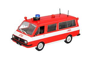 RAF 22034 FIRE ENGINE (USSR RUSSIA) 1980 RED | РАФ 22034 АШ ПОЖАРНЫЙ АВТОМОБИЛЬ НА СЛУЖБЕ #12 *РАФ РИЖСКИЙ