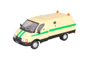 GAZ 3302 WARRIOR COLLECTION CAR IN SERVICE #14 DIRTY YELLOW   ГАЗ 3302 РАТНИК ИНКАССАЦИЯ АВТОМОБИЛЬ НА СЛУЖБЕ #14 ГРЯЗНО-ЖЕЛТЫЙ