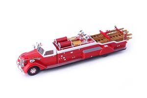 DIAMOND T CITY SERVICE LADDER TRUCK RED USA 1941 *ДАЙМОНД