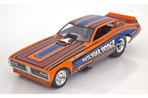 DODGE CHARGER WHITE BEAR FUNNY CAR 1971 HOOVER