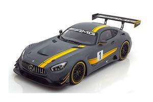 MERCEDES AMG GT GT3 PRESENTATION SALON GENEVE 2015 FLAT GREY/YELLOW SPECIAL EDITION BY MERCEDES