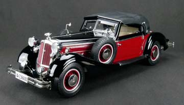 HORCH 853 1937 TWO-TONE FINISH RED/BLACK