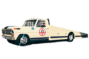 FORD F350 TRAILER RAMP TRUCK 1970 WHITE BEIGE *ФОРД ФОРТ